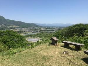 名胡桃城から沼田城方面を望む展望
