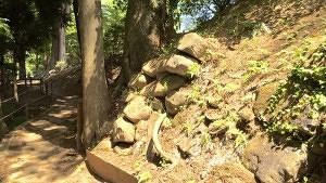 沼田城の古い石垣