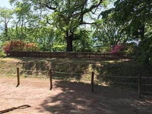 沼田城の西櫓跡