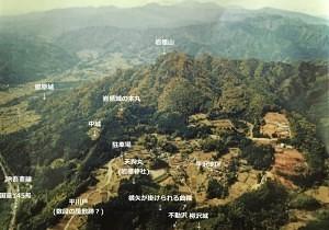 岩櫃城の陣形