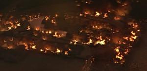 大阪城炎上